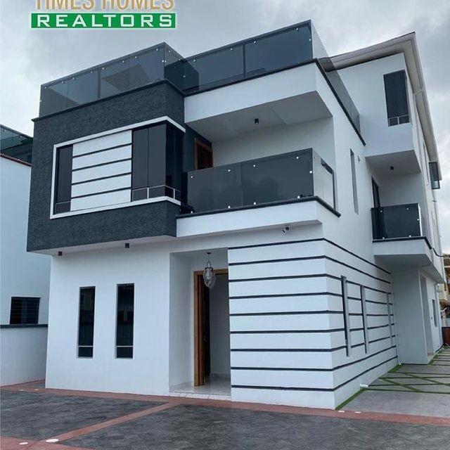 Stunning 5 Bedroom Fully Detached Duplex For Sale in a Serene Environment | PROPERTIES IN LEKKI LAGOS NIGERIA